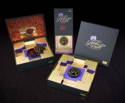 Packaging with coldfoil from Golden Ressult saffron