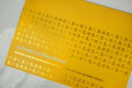 Envelope with coldfoil for Telenet Play More